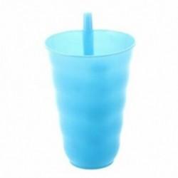 műanyag szalma csésze hideg csészék Juice csésze kék V6Q6