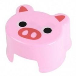Rajzfilm állati gyermekek Antiszid széklet Fürdőszoba szék Lábszék, Pink Pigg B3I7