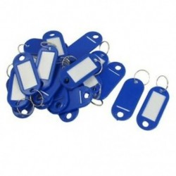 20 db kulcsazonosító címke Címkék Osztott gyűrű kulcstartó kulcstartó kék T4E3