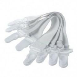 2X (4 db otthoni fehér elasztikus matrac ágynemű markolat klipek E8C6)