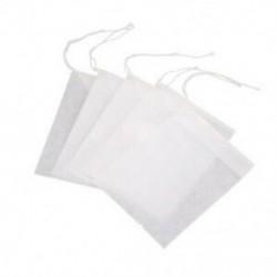 100 db eldobható üres teás tasak húros hőtömítő szűrőpapír J8O6