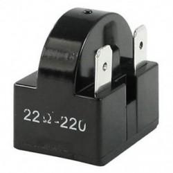 22 Ohm ellenállás 3 pólusú kapcsok Hűtőszekrény PTC indítórelé Fekete K2N3