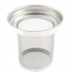 Rozsdamentes acélból készült hálószűrő laza levél fűszergömbös tea-infúziós szűrő G4I6 B0M5