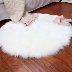 1X (műbőr báránybőr gyapjúszőnyeg 30 x 30 cm Bolyhos puha hosszúszőrű dekoratív ca E2I9