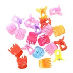 20 színes válogatott mini kicsi műanyag hajcsipesz karom bilincsek I3B3 T3A4