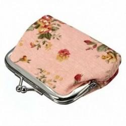Női Rózsa Virágos szövet klip Mini kicsi érme zseb pénztárca X1F3 Q7X2 N0B6