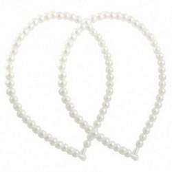 2 db fehér műszálas gyöngy karcsú fejpántos hajkarika díszítés a lánynak X8I7 C5D1