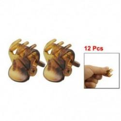 12 db barna műanyag mini hajtű 6 karomú hajcsat bilincs a nők számára Q5C3