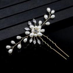Esküvői fesztivál esküvői hajtű - gyönyörű virágos fejdísz - fonott hajcsipesz Ac O5V1