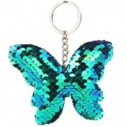 Kék - 1X (szép lány rajzfilm pillangó alakú kulcstartó flitter kulcstartó medál K9G4)