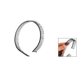 1X (SODIAL (R) fém fogakkal fésült hajpánt hajkarika fejpánt fekete nőknek D2S6)