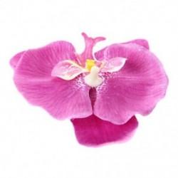 1X (női lányok orchidea virágos hajcsat - lila D4Q7)