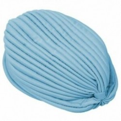Női Wrap kalap, elasztikus turbán fejpántos, jóga kalap sapka, világoskék U6L6