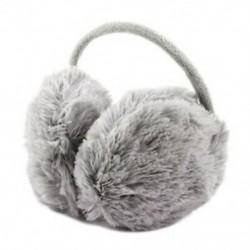 Unisex téli fejpánt Bolyhos műszőrme fülpárna hátsó fülvédő szürke W1C4