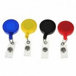 2X (4 db-os készlet, visszahúzható orsójelvény-tartó, YOYO Clip Snap Button ID-kártya W8A3