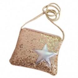 Flitter csomag Pentagram lányok ferde cipzár táska váltó pénztárca fél táska A4V5