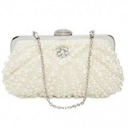 Női gyöngy tengelykapcsoló táskák esti táska pénztárca kézitáska esküvői lánc táska részére X9V7