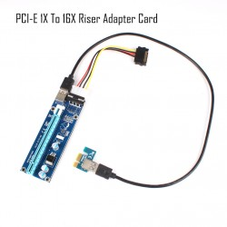 60CM USB3.0 PCI-E Express 1x to 16x Extender Riser Card Adapter SATA 4Pin