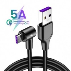 1x 5A C töltésű USB típusú kábel a Huawei P20 Lite P30 Pro készülékhez Gyors töltésű gyors töltő USB C kábel a