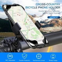 1x Kerékpár telefontartó iPhone XS Max 7 Samsung univerzális motoros telefontartóhoz