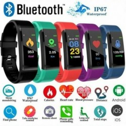 1x Bluetooth intelligens karkötő ellátott sportóra pulzusszám vérnyomásmérő Samsung
