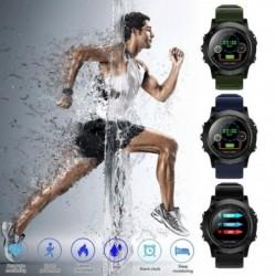 1x Bluetooth vízálló pulzusszám vérnyomásmérő intelligens karóra karkötő iOS Androidra