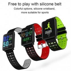 1x Sport okosóra vízálló intelligens óra pulzusmérő karkötő iOS Androidhoz