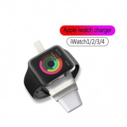 1x Hordozható mágneses vezeték nélküli töltő iWatch USB órájához, kompatibilis Apple Watch sorozathoz 4 3 2 1 NIKE