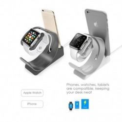 1x Alumínium töltőállvány iWatch állványhoz 2 az 1  kijelzős polc töltőtartóval az Apple Watch iPhone készülékhez