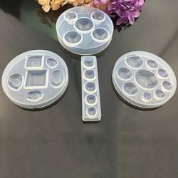 10mm 12mm 14mm 16mm 18mm 20mm 25mm 30mm Kerek lapos hátú átlátszó üveg  szilikon forma, Kiváló minőségű, ékszerek