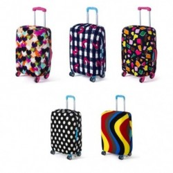 1x Rugalmas utazási poggyász bőrönd védő huzat nyomtatott mosható