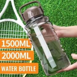 1x Vizes palack tornaterem itallal BPA-mentes Sport nagy kapacitású 1500 ML vagy 2000ML túrázáshoz