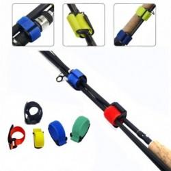 1x Újrahasznosítható horgászbot Nyakkendő tartó heveder csat rögzítő horog hurok kábel horgász kiegészítők