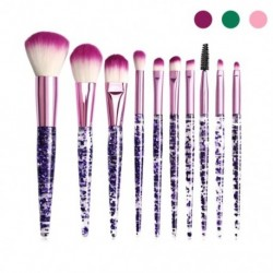 10 db színes kozmetikai alapozó szemhélyárnyaló smink ecset kefe szett készlet