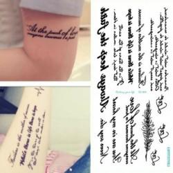 1 lapos angol szó felirat  tetoválás matrica test dísz