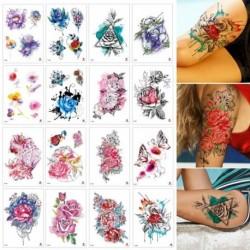 1x Kar virág vízálló tetoválás matrica Nyári bikini láb tetoválás test matrica