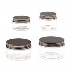1x 30ml utazási kozmetikai üres üveg átlátszó üvegedény smink tároló