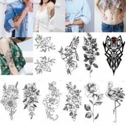 Ideiglenes Tetoválás - vízálló matrica - unisex - Virág mintás