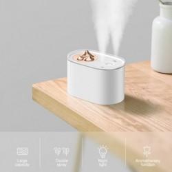 1db 1000ML párásító aromás illóolaj diffúzor ultrahangos levegő hegyi alakú színváltó LED lámpák irodai otthoni