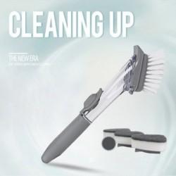1x Többfunkciós konyhai tisztítókefe súrolókészlet újratöltő folyékony szappan adagolóval