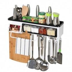 1x Falra szerelhető konyhai fűszertartó multifunkcionális fűszer konyhai eszköz tartó tároló állvány