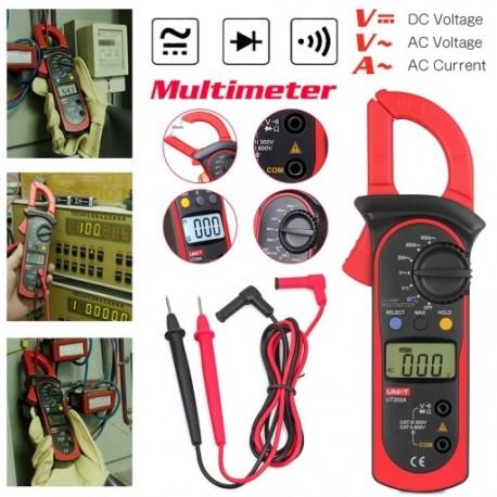 1x UNI-T UT202A LCD digitális multiméter automatikus kézi bilincsmérő AC / DC voltmérő AC váltóáramú többfunkciós