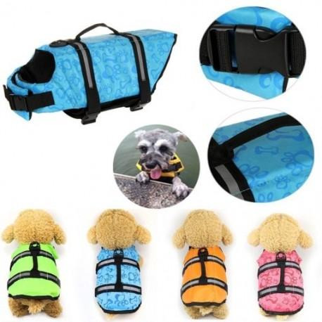 1x Kutya mentőmellény Kisállatbiztonsági úszás segítő állítható mellény S