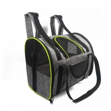 1x Kisállat kutya hátizsák puha oldalas kisállat utazási hordozó, jó szellőzésű autó üléshez, túrázáshoz,