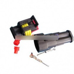 1 készlet vízálló 2-pólusú lezárt elektromos huzal HID csatlakozó autóhoz