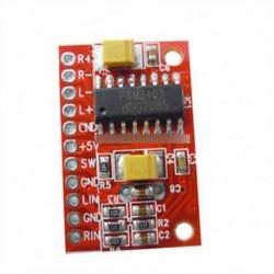 2db 3WĂ 2 Mini Digitális teljesítmény Audióerősítő panel USB 5V tápegység Arduino