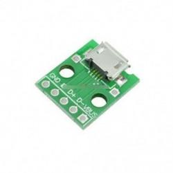5db női MICRO USB DIP 5-pólusú Pinboard 2,54 mm-es micro USB típus