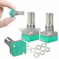 3db 6mm 3 érintkezős tengely Egyenes lineáris B típusú B10K ohm forgó potenciométer