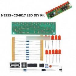 1. tétel - NE555   CD4017 LCD fény vízkészlet DIY készlet Elektronikus modul ICSK057A Piros