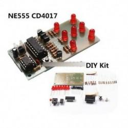 2. tétel - NE555   CD4017 LCD fény vízkészlet DIY készlet Elektronikus modul ICSK057A Piros